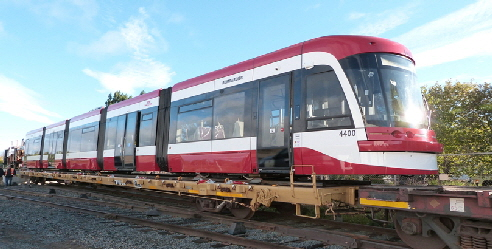 Light Rail Vehickle LRV in Tunder Bay-ready